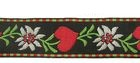 10m TrachtenBorte Webband 35mm breit Farbe: Rot-Grün-Weiss-Schwarz
