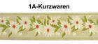 10m MittelalterBorte Webband 35mm breit Farbe: Beige-Grün-Weiss-Rot