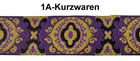 10m MittelalterBorte Webband 35mm breit Farbe: Lila-Gelb-Schwarz R-3