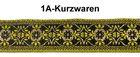 10m MittelalterBorte Webband 35mm Farbe: Gelbgrün-helles Gold