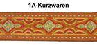 10m MittelalterBorte Webband 35mm Farbe: Orange-Rot-Gelb-Silber