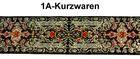 10m MittelalterBorte Webband 40mm Farbe: Rot-Orange-helles Gold