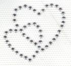 Studs-Motiv Doppel-Herz 4 x 3,5cm