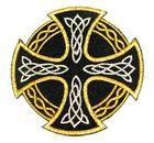 Applikation Tribal keltisches Kreuz 9,5cm Farbe: Gold-Silber