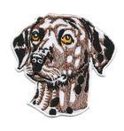 Applikation Hund Dalmatiner 8,5 x 8,5cm Farbe: Braun