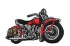 Applikation Patch Biker Motorrad Cars 9,5 x 6cm Farbe: Rot