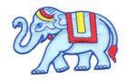 Applikation Sticker Patch Elefant 8 x 5cm Farbe: Hellblau