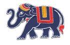 Applikation Sticker Patch Elefant 8 x 5cm Farbe: Dunkelblau
