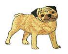 Applikation Patch Hund 7,5 x 6,5cm
