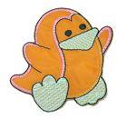 Applikation Patch Sticker Küken 7 x 7cm Farbe: Terracotta-Mint