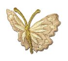 1 Applikation Patch Schmetterling 3 x 3,5cm Farbe: Hellbraun