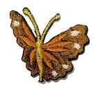 1 Applikation Patch Schmetterling 3 x 3,5cm Farbe: Dunkelbraun