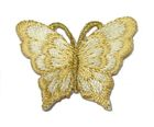 1 Applikation Patch Schmetterling 3,5 x 2,5cm Farbe: Beige