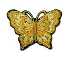 1 Applikation Patch Schmetterling 3,5 x 2,5cm Farbe: Gold