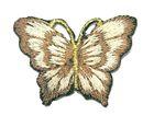1 Applikation Patch Schmetterling 3,5 x 2,5cm Farbe: Braun-Beige
