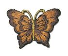 1 Applikation Patch Schmetterling 3,5 x 2,5cm Farbe: Dunkelbraun