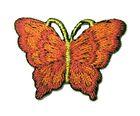 1 Applikation Patch Schmetterling 3,5 x 2,5cm Farbe: Terracotta dunkel