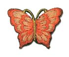 1 Applikation Patch Schmetterling 3,5 x 2,5cm Farbe: Terracotta