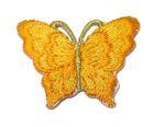 1 Applikation Patch Schmetterling 3,5 x 2,5cm Farbe: Orange