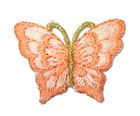 1 Applikation Patch Schmetterling 3,5 x 2,5cm Farbe: Lachs