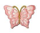 1 Applikation Patch Schmetterling 3,5 x 2,5cm Farbe: Altrosa