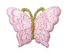 1 Applikation Patch Schmetterling 3,5 x 2,5cm Farbe: Rosa