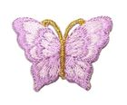 1 Applikation Patch Schmetterling 3,5 x 2,5cm Farbe: Violett hell