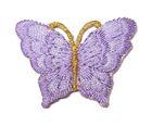 1 Applikation Patch Schmetterling 3,5 x 2,5cm Farbe: Flieder