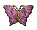1 Applikation Patch Schmetterling 3,5 x 2,5cm Farbe: Bromber