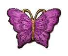 1 Applikation Patch Schmetterling 3,5 x 2,5cm Farbe: Violett