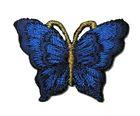 1 Applikation Patch Schmetterling 3,5 x 2,5cm Farbe: Royalblau