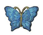 1 Applikation Patch Schmetterling 3,5 x 2,5cm Farbe: Blau