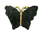 1 Applikation Patch Schmetterling 3,5 x 2,5cm Farbe: Schwarz