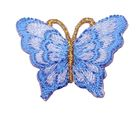 1 Applikation Patch Schmetterling 3,5 x 2,5cm Farbe: Wolkenblau