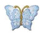 1 Applikation Patch Schmetterling 3,5 x 2,5cm Farbe: Hellblau