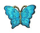 1 Applikation Patch Schmetterling 3,5 x 2,5cm Farbe: Blaugrün