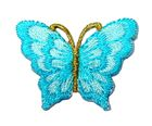 1 Applikation Patch Schmetterling 3,5 x 2,5cm Farbe: Blau hell
