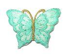 1 Applikation Patch Schmetterling 3,5 x 2,5cm Farbe: Hellgrün