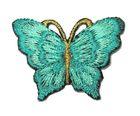 1 Applikation Patch Schmetterling 3,5 x 2,5cm Farbe: Türkis