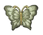 1 Applikation Patch Schmetterling 3,5 x 2,5cm Farbe: Petrol