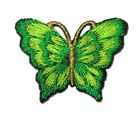 1 Applikation Patch Schmetterling 3,5 x 2,5cm Farbe: Grün