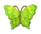 1 Applikation Patch Schmetterling 3,5 x 2,5cm Farbe: Neongrün
