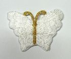 1 Applikation Patch Schmetterling 3,5 x 2,5cm Farbe: Weiss