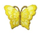 1 Applikation Patch Schmetterling 3,5 x 2,5cm Farbe: Gelb