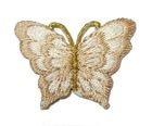 1 Applikation Patch Schmetterling 3,5 x 2,5cm Farbe: Hellbraun