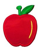 Applikation Patch Sticker Apfel 6 x 7,7cm Farbe: Rot-Gelb