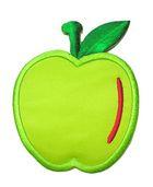 Applikation Patch Sticker Apfel 6 x 7,7cm Farbe: Grün-Rot