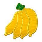 Applikation Patch Sticker Bananen 6,5 x 7,8cm Farbe: Gelb