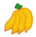 Applikation Patch Sticker Bananen 6,5 x 7,8cm Farbe: Orange