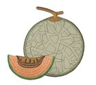 Applikation Patch Sticker Melone 7,2 x 7,5m Farbe: Grau-Orange